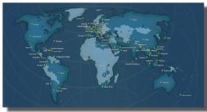 World map of beta locations.